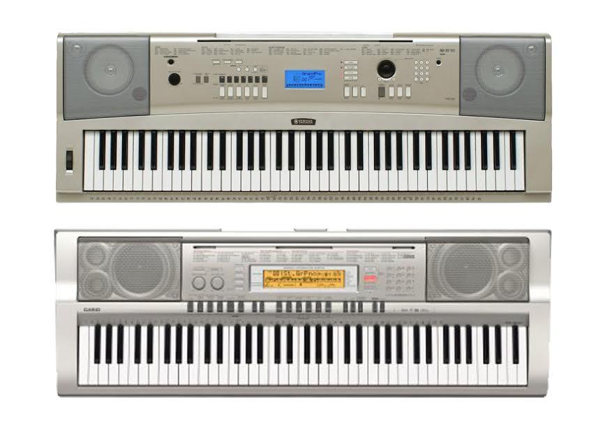 Yamaha Ypg  Vs Casio Wk