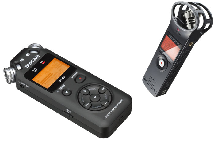 Tascam DR-05 vs Zoom H1