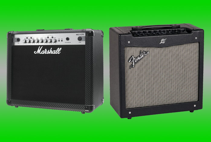 Marshall MG30CFX Vs Fender Mustang II
